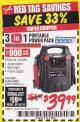 Harbor Freight Coupon 3-IN-1 PORTABLE POWER PACK WITH JUMP STARTER Lot No. 38391/60657/62306/62376/64083 Expired: 1/31/18 - $39.99