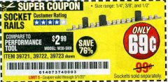 Harbor Freight Coupon SOCKET RAILS Lot No. 39721/39722/39723 Valid Thru: 5/1/20 - $0.69